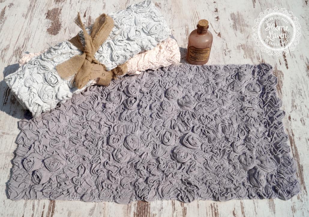 badteppich badl ufer duschvorleger bettvorleger teppich bad grau landhaus shabby ebay. Black Bedroom Furniture Sets. Home Design Ideas